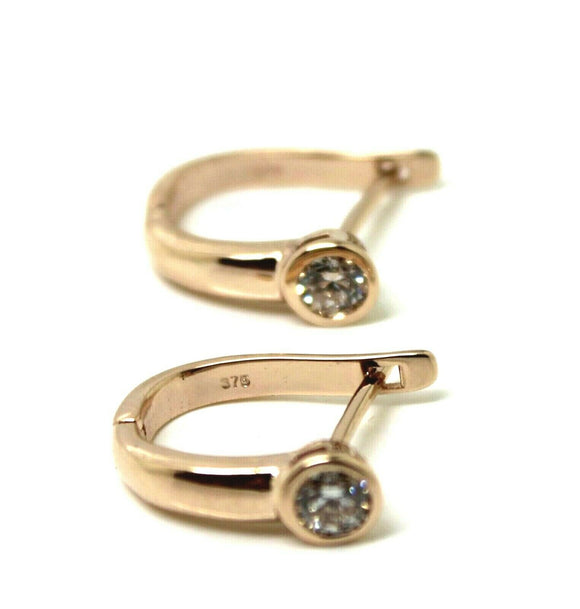 Genuine 9ct 9k Solid Rose Gold Diamond 0.50 Tdw Huggies Earrings