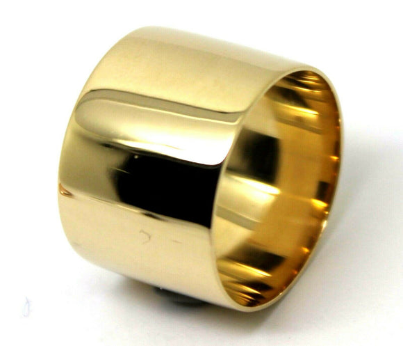 SIZE 9 9CT YELLOW GOLD SOLID 15MM EXTRA WIDE BAND RING