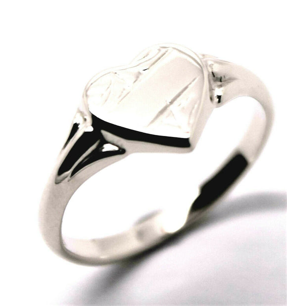 Kaedesigns, New Genuine Sterling Silver 925 Heart Signet Ring 201