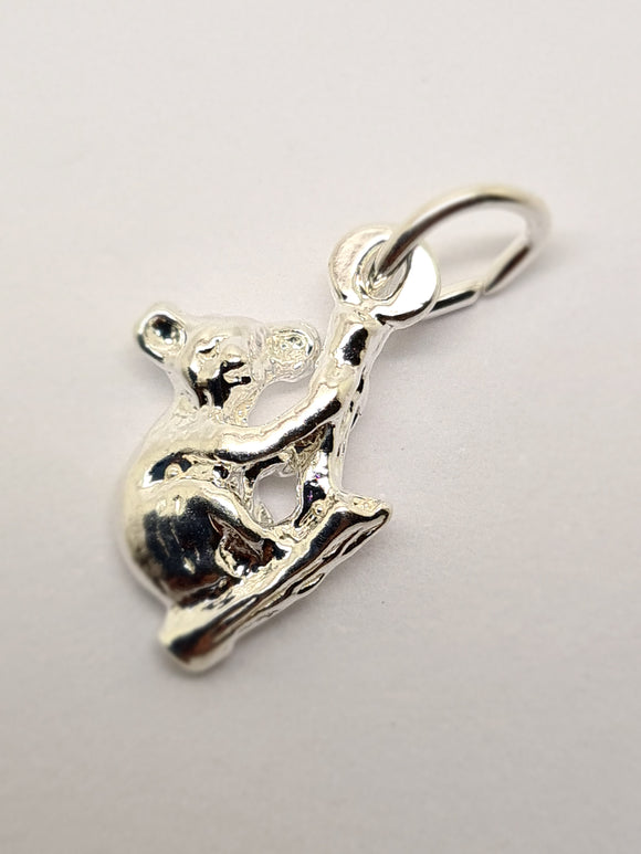 Sterling Silver Small Koala Pendant Or Charm *Free Post In Oz