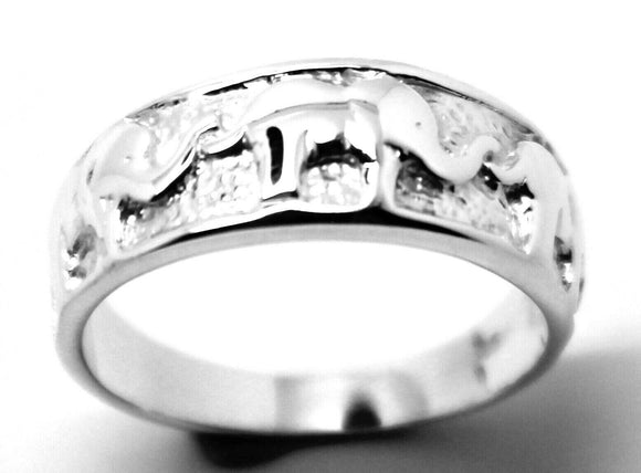 Kaedesigns, New Solid Sterling Silver 925 Elephant Ring Sizes To Choose