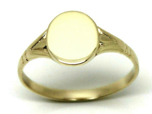 Kaedesigns New Size I / 4 Solid New 9ct 9K Yellow, Rose or White Gold Oval Signet Ring