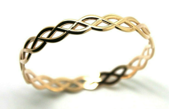 Kaedesigns Full Solid Genuine 375 9ct 9kt Rose gold CELTIC KNOT OVAL BANGLE