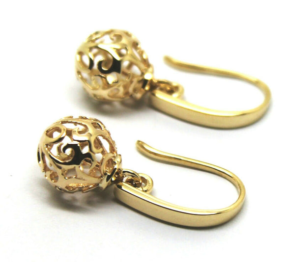 Kaedesigns New Genuine 9ct Yellow, Rose or White Gold 10mm Ball Drop Filigree Earrings