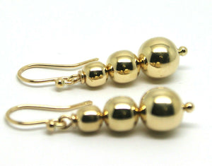 Kaedesigns 9ct 9k Yellow Or White Or Rose Gold 375 Three Ball Drop Ball Earrings