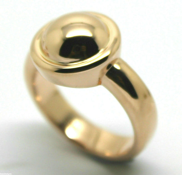 Genuine New Solid 9ct 9k Yellow Or Rose Or White Gold 375 Half Ball Ring
