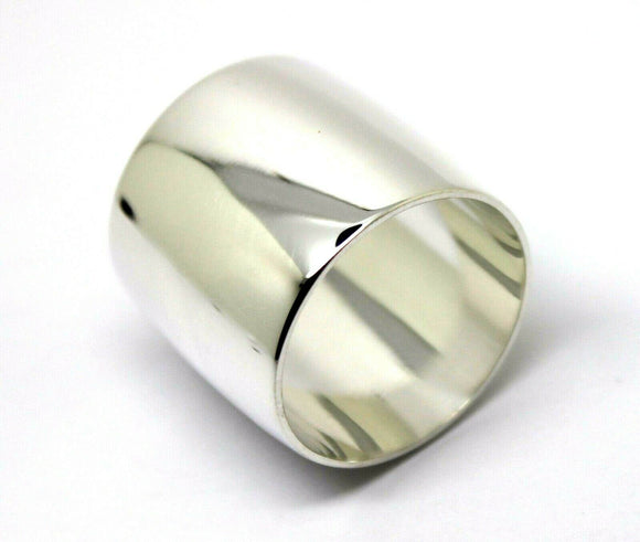 Sterling Silver Full Solid 20mm Extra Wide Band Ring * Free Express Post In Oz