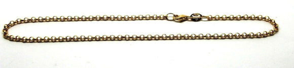 Genuine 9ct 9k Solid Yellow Gold 25cm Belcher Anklet