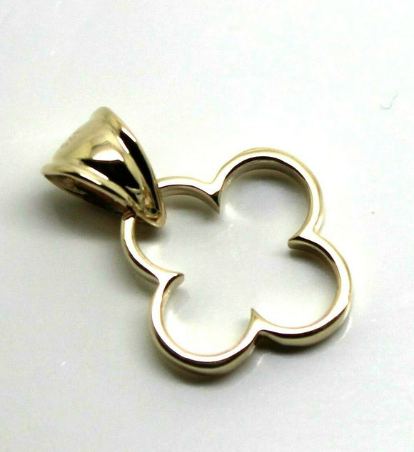 Solid 9ct 9K Yellow, Rose or White Gold Small Clover Pendant With Bale