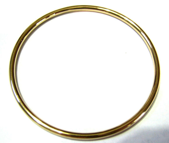 9ct Yellow gold 3mm wide GOLF bangle 65mm inside diameter *FREE EXPRESS POST OZ*