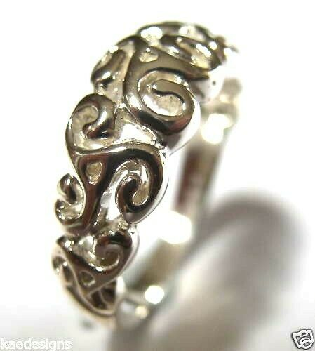 Kaedesigns New Genuine Sterling Silver Solid Swirl Filigree Ring 358