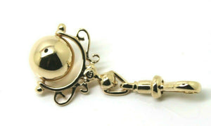 Kaedesigns, New 9ct 9k 375 Gold Yellow, Rose Or White Gold Swivel Euro Ball Spinner Pendant