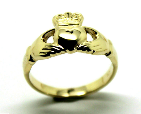 9ct 375 Solid Yellow, Rose or White Gold Claddagh Celtic Friendship Ring In Your Size