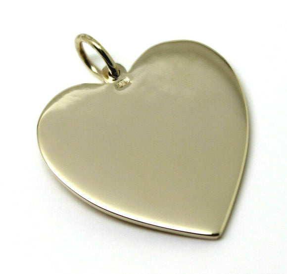 New Genuine 375 9ct Yellow Or Rose Or White Gold Large Heart Shield Pendant