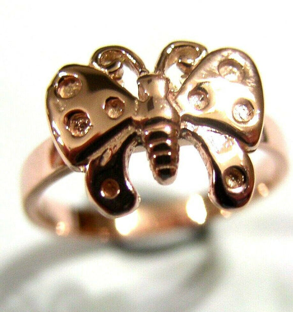 New Genuine Solid 9ct White Or Rose Or Yellow Gold Butterfly Ring Choose Size