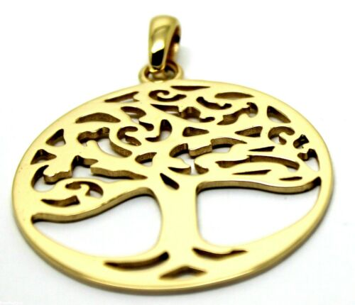 Genuine Heavy Solid 9ct Yellow Or Rose Or White Gold Tree Of Life Large Pendant