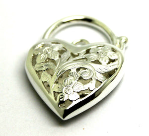 Kaedesigns New Sterling Silver Largest Heavy Large Heart Locket Padlock Filigree