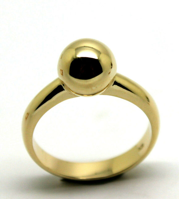 SIZE N GENUINE 9CT 9KT YELLOW GOLD 10MM FULL BALL RING