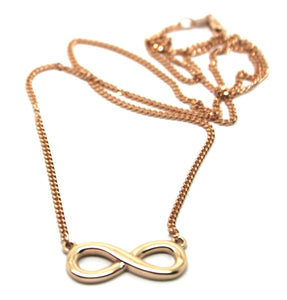 Kaedesigns 9ct 375 Solid Rose Gold Infinity Long chain 56cm Kerb Curb Necklace
