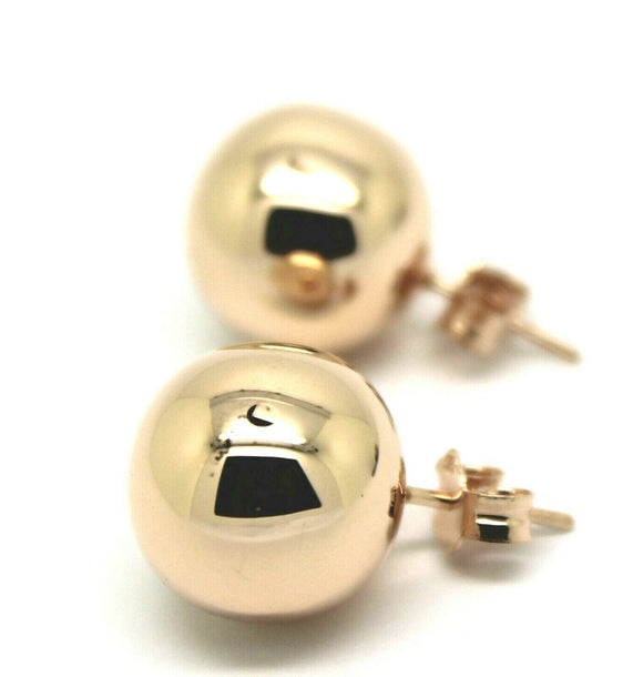 Kaedesigns, New Genuine 9ct 9K Solid Yellow, Rose or White Gold 14mm Stud Ball Earrings