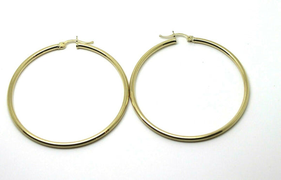 9CT YELLOW GOLD MEDIUM 4CM WIDE HOLLOW HOOP ROUND EARRINGS *FREE EXPRESS POST