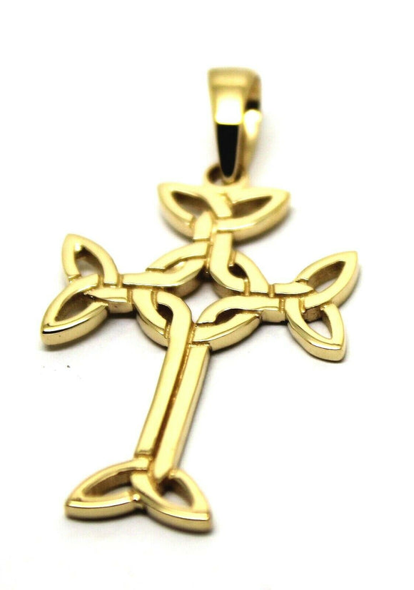Genuine 9ct Yellow Gold Heavy Celtic Cross Pendant* Free Express Post In Oz
