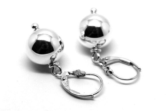 STERLING SILVER BALL EARRINGS 12mm CONTINENTAL CLIP EARRINGS *FREE EXPRESS POST