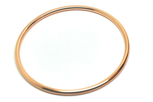 9ct Rose gold 3mm wide GOLF bangle 65mm inside diameter *FREE EXPRESS POST OZ*