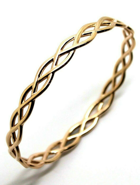 Kaedesigns New Genuine 9ct Rose Gold Celtic Knot Oval Bangle 7.1cm X 6cm