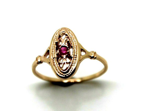 Kaedesigns New Genuine 9ct 9k Rose Gold Delicate Pink Sapphire Filigree Ring