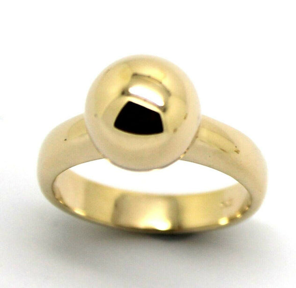 Kaedesigns New Genuine Size M 9CT 9KT YELLOW GOLD 10MM FULL BALL RING
