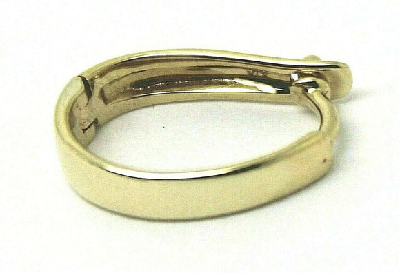 9ct Yellow gold Plain 13mm Large Size Enhancer Bail Clasp