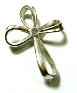 Kaedesigns, New Genuine Sterling Silver Cross White Sapphire Set Cross  Pendant