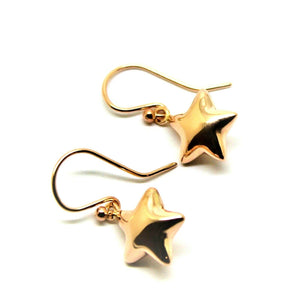 Genuine New 9ct Rose gold Star hook earrings - Free express post in oz