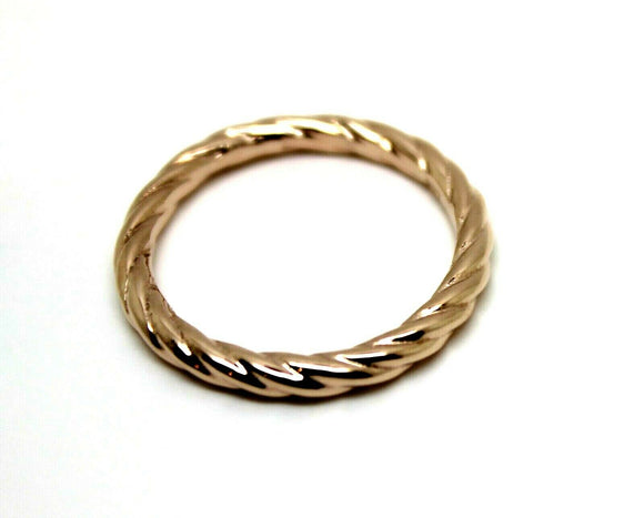 Genuine New 9ct Yellow, Rose or White gold gold dress rope stacker wedding band ring