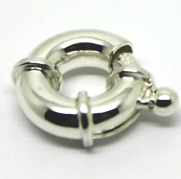 Genuine 13mm Sterling Silver Bolt Ring Clasp