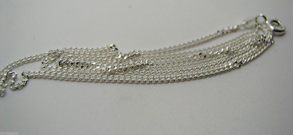 STERLING SILVER DIAMOND CUT CURB CHAIN 3.04grams 55cm *FREE EXPRESS POST IN OZ