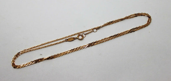 Genuine 750  18ct Rose Gold Box Chain 44cm 2.71g *FREE EXPRESS POST IN OZ