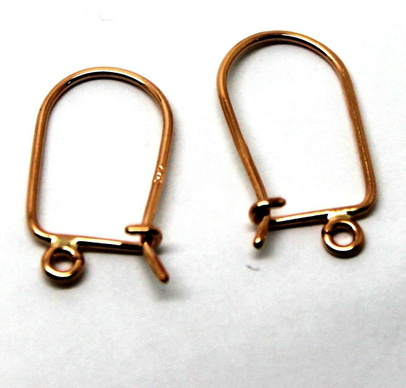 Genuine New 9ct 9kt Rose Gold 20mm X 11mm Hooks *Free Express Post In Oz