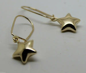 Genuine 9ct Yellow OR White OR Rose Gold BUBBLE DROP STAR CLOSED HOOK EARRINGS