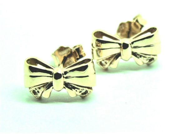 GENUINE 9CT YELLOW GOLD BUTTERFLY STUD EARRINGS SET WITH GEMSTONE OF YOUR CHOICE