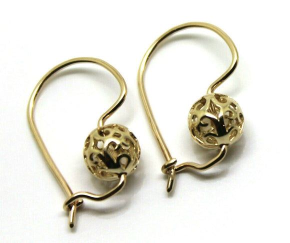 9ct Yellow, Rose and White Gold 8mm Ball Filigree Earrings