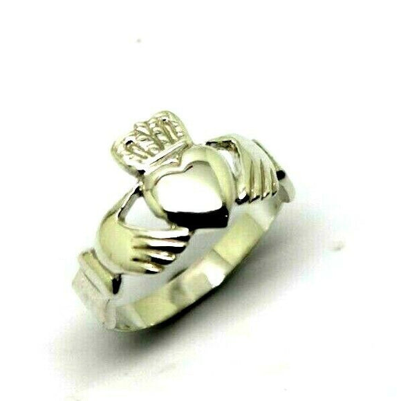 Size U Solid 925 Sterling Silver Extra Large Irish Claddagh Ring - Free express post