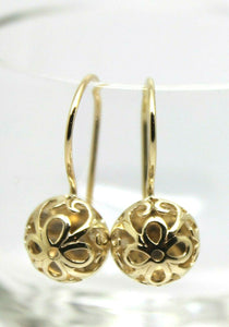 Kaedesigns New 9ct Yellow, Rose or White Gold 10mm Half Ball Hook Filigree Earrings
