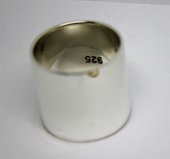 Heavy Sterling Silver Full Solid 23mm Extra Wide Band Ring Size Z + 2