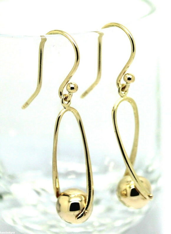 Kaedesigns, 9ct Yellow Or White Or Rose Gold  Hook Gold 8mm Ball Drop Earring