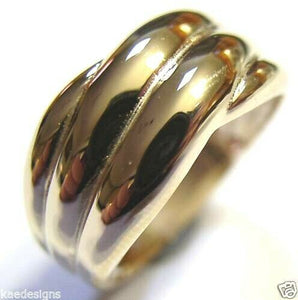 Kaedesigns Size N Genuine New 9ct 9kt Full Solid Yellow, Rose or White Gold Heavy Dome Ring 213