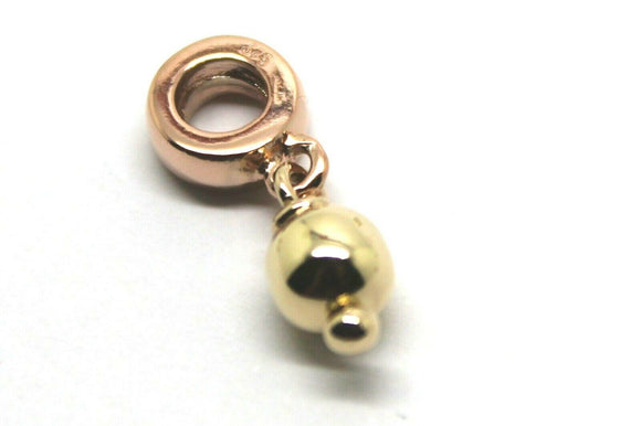 9ct ROSE & YELLOW GOLD 6MM BALL BEAD FOR CHARM BRACELET*FREE EXPRESS POST IN OZ
