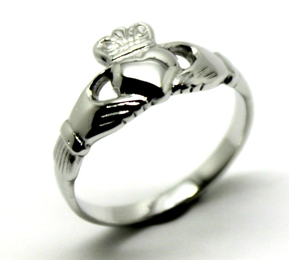 Size M  Sterling Silver Irish Claddagh Ring Rrp$175