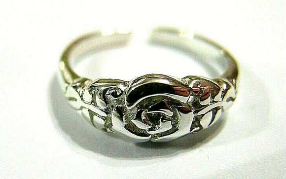 Solid Sterling Silver 925 FLOWER TOE RING